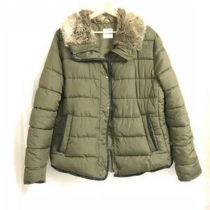 Army Green Puffer Coat